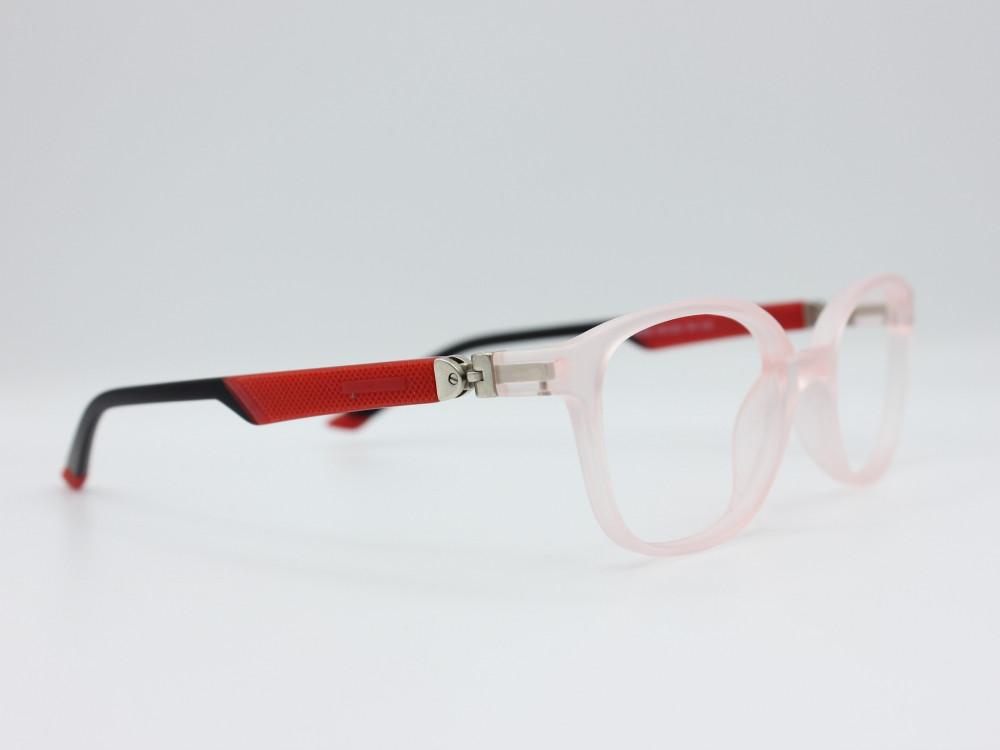 نظارة طبية للأطفال من ماركة T دائري مع عدسات بحماية لون الاطار شفاف و