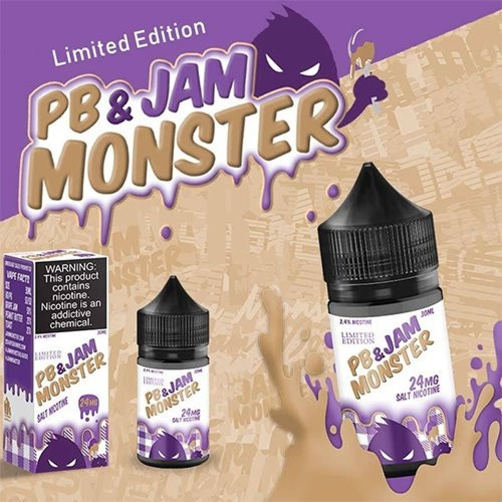 JAM PB MONSTER - Salt Nicotine - شيشة سيجارة نكهات VAPE فيب