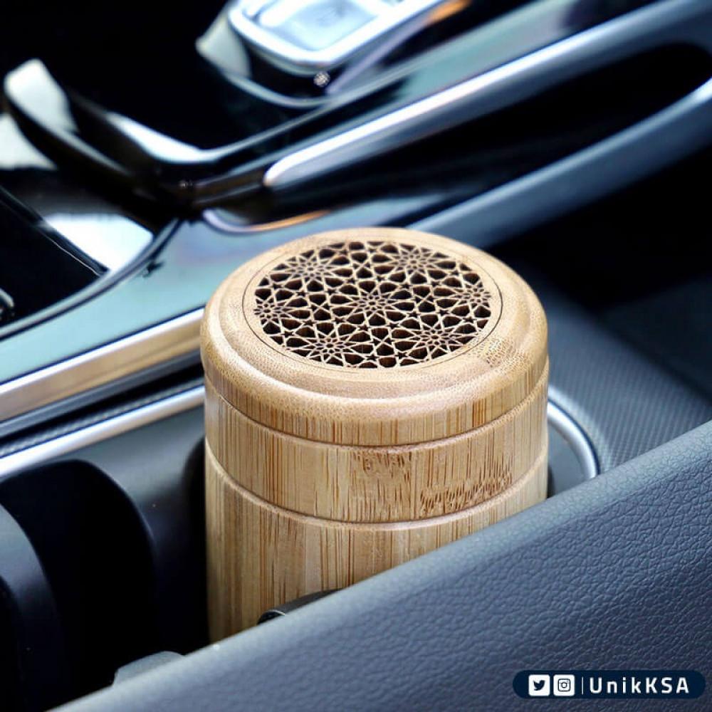 مبخرة ذكية خشبية دائإية