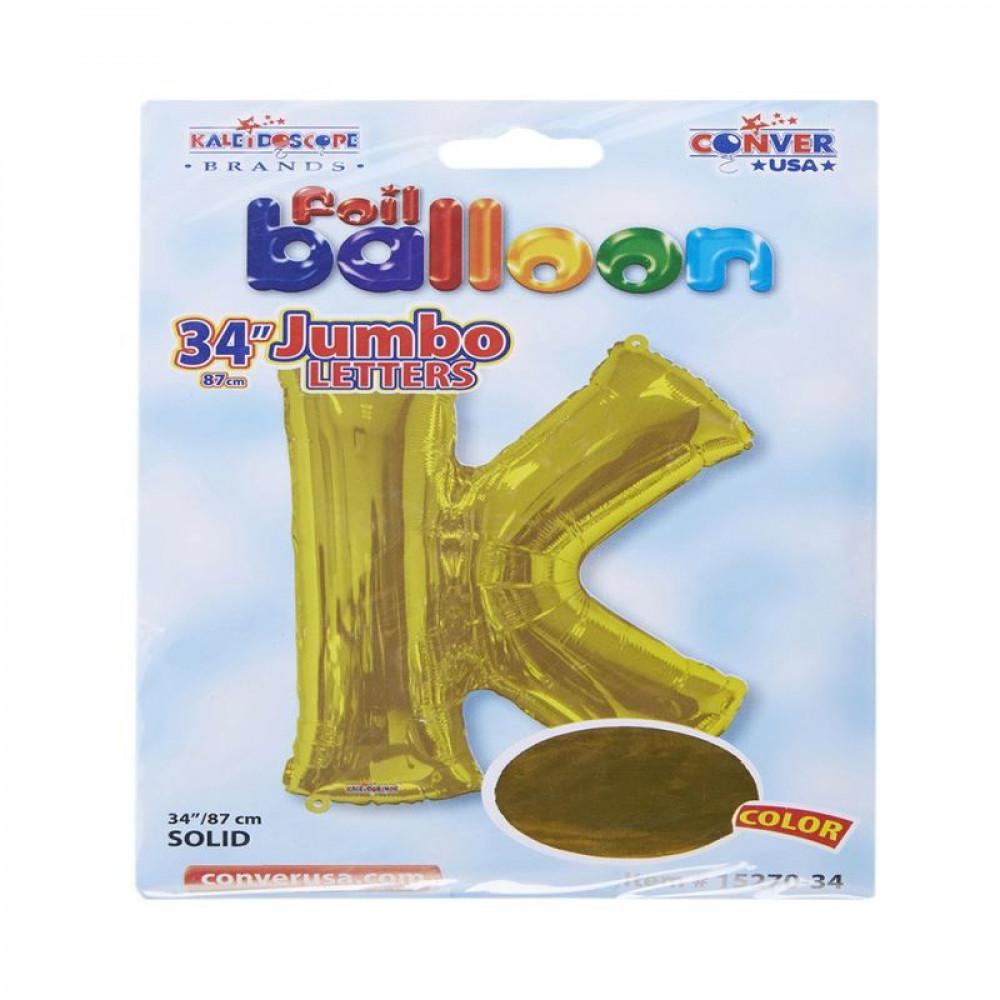 بالون ذهبي, بالون حرف K, بلونات أحرف, Golden Balloon