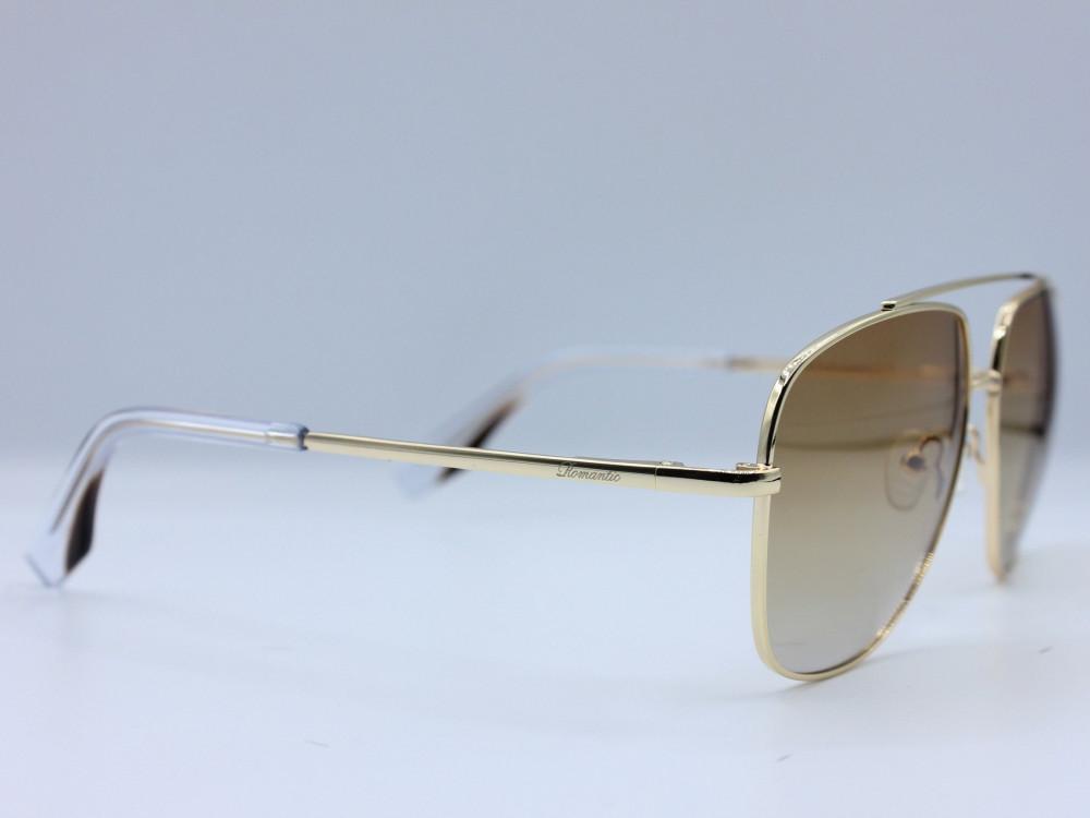 نظاره شمسية مربعه من ماركة ROMANTIC لون العدسة عسلي مدرج  للجنسين 2021
