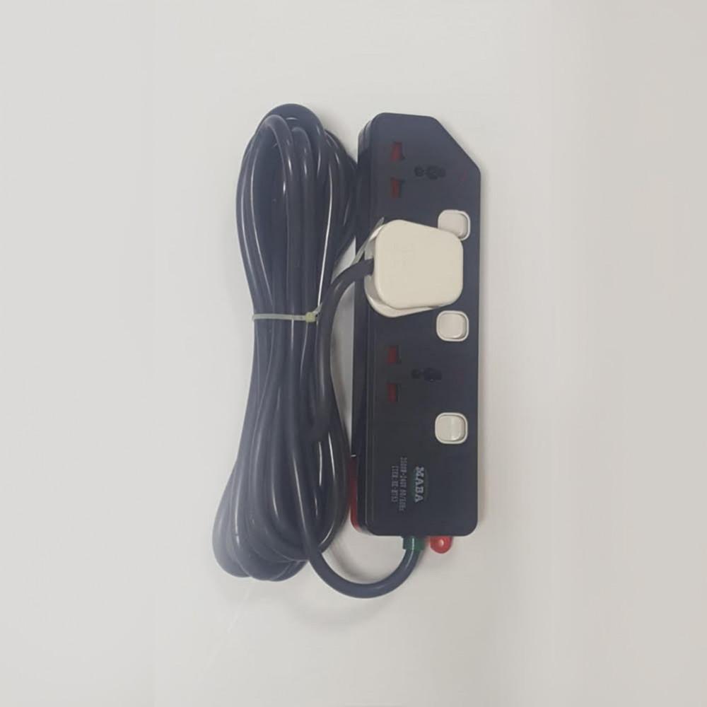 توصيلة كهرباء - 5 متر - 3 مداخل