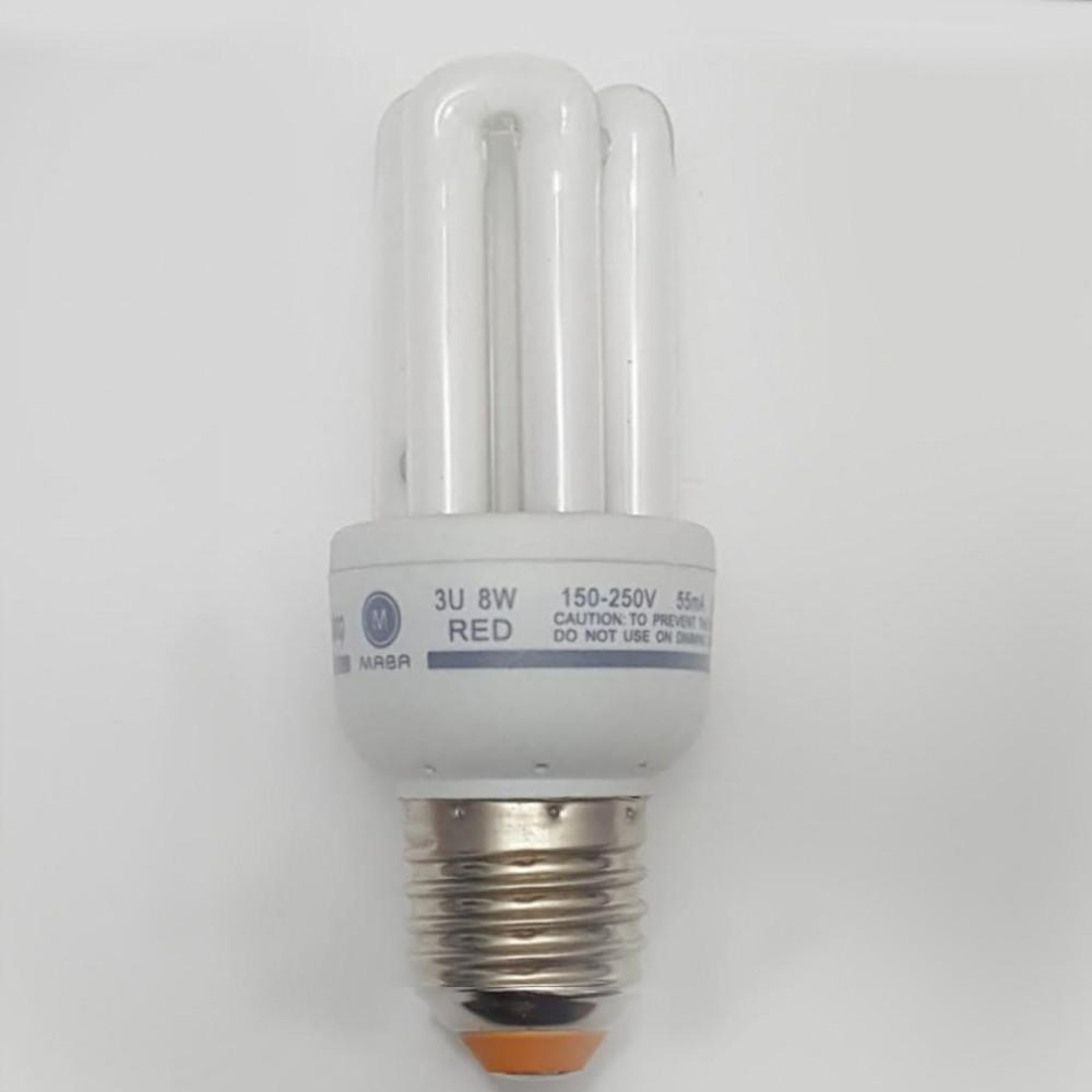 لمبة توفيرية اصابع احمر spiral energy saving lamp E27 8W 220V
