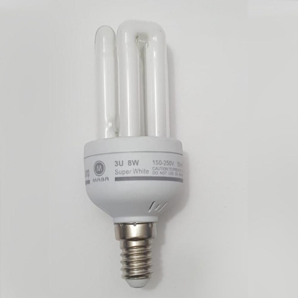 لمبة توفيرية اصابع سوبرلايت spiral energy saving lamp E14 8W 220V
