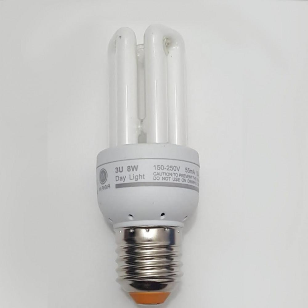 لمبة توفيرية اصابع ابيض spiral energy saving lamp E27 8W 220V
