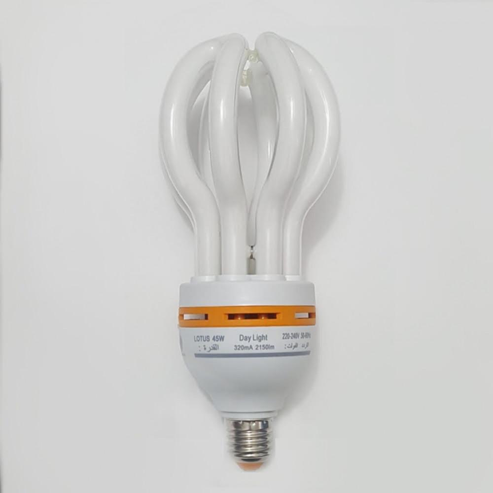 لمبة توفيرية عنكبوت ابيض spiral energy saving lamp 220V 45W E27