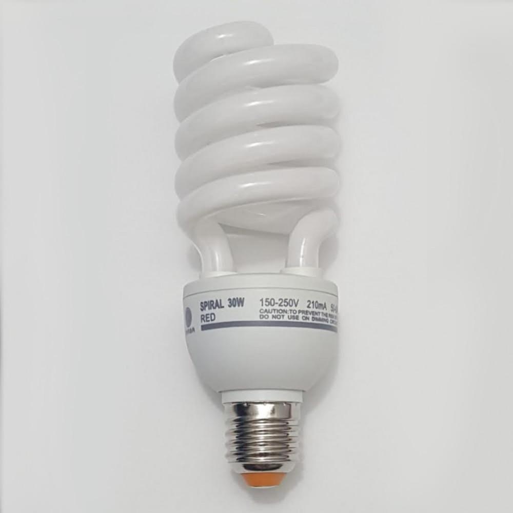 لمبة توفيرية حلزوني احمر spiral energy saving lamp  E27 30W  220V