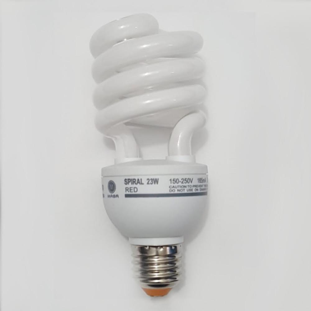 لمبة توفيرية حلزوني احمر spiral energy saving lamp  E27 23W  220V