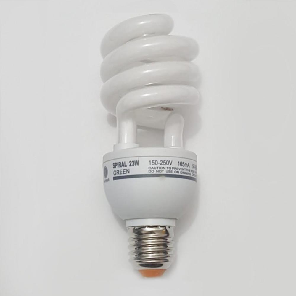 لمبة توفيرية حلزوني اخضر spiral energy saving lamp  E27 23W  220V