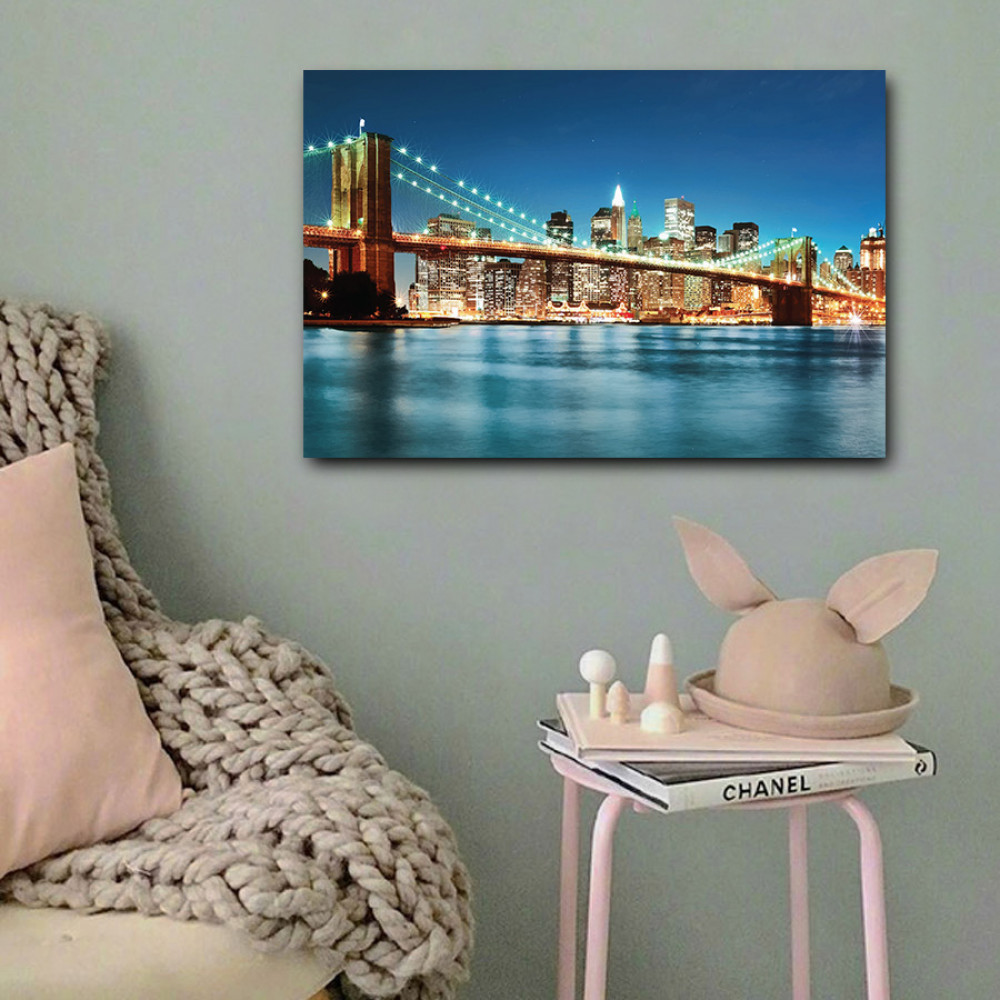 لوحة مدينة نيويورك خشب ام دي اف مقاس 40x60 سنتيمتر