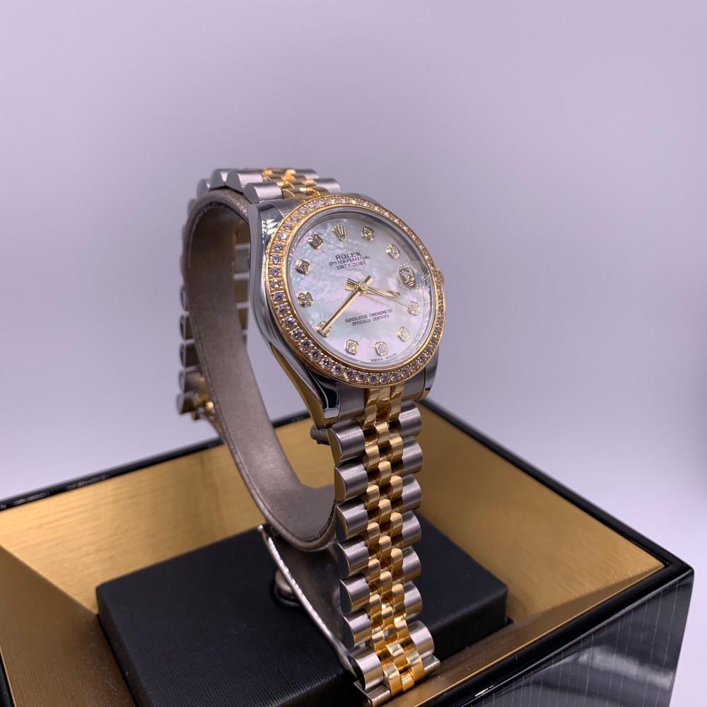 ساعة رولكس ديت جست نسائية ثمينة مستعملة