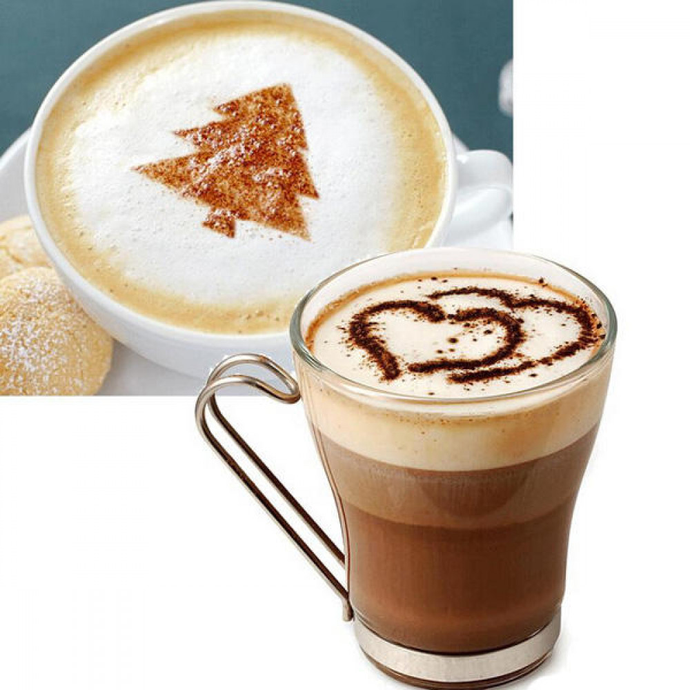 16 قطع كابتشينو لعمل اشكال فنية للقهوة