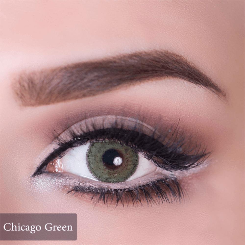 عدسات ملونة من انستازيا اخضر شيكاغو