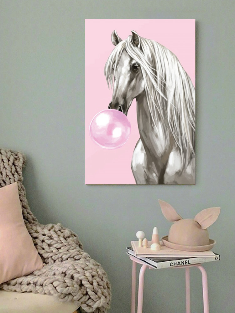 لوحة حصان كول خشب ام دي اف مقاس 40x60 سنتيمتر