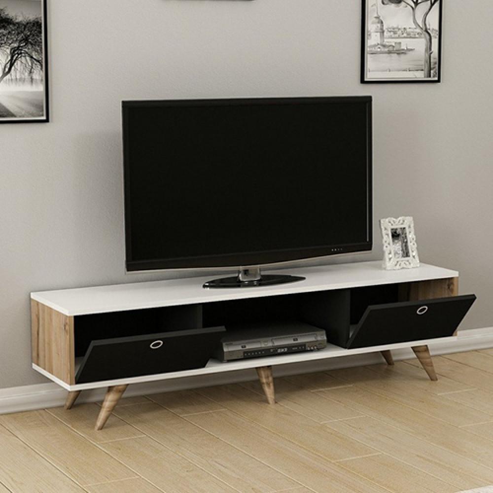 صورطاولة تلفزيون خشب موديل زين طاولات التلفاز مودرن