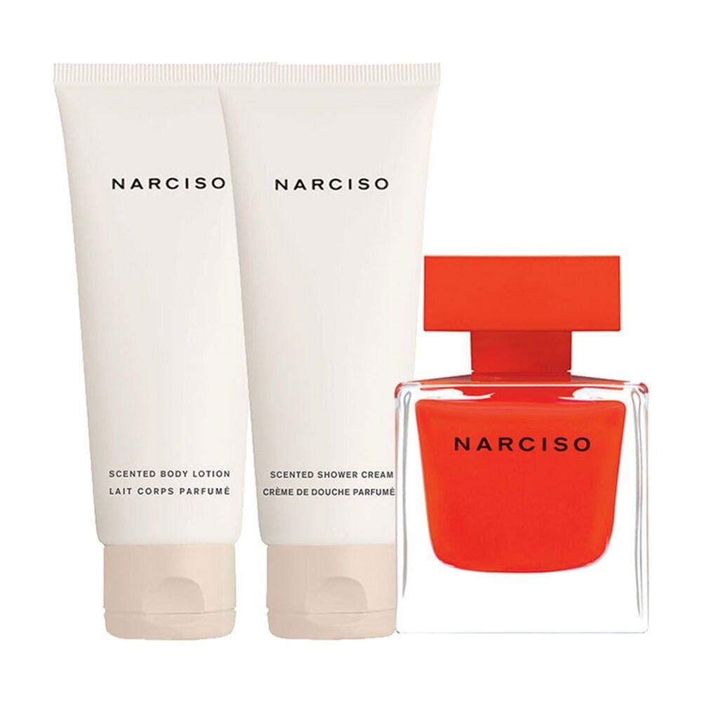 Narciso Rodriguez Rouge Eau de Parfum 50ml 3 Gift Set متجر الخبير شوب