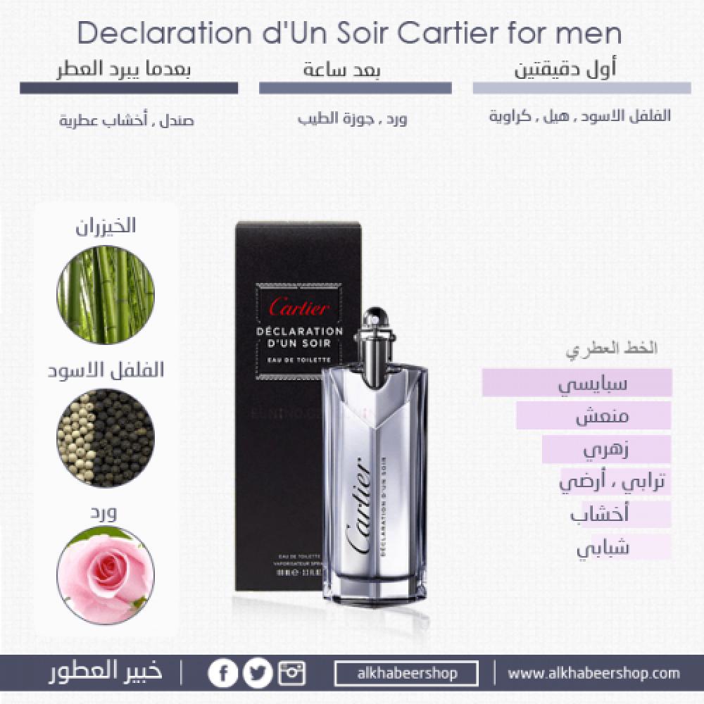 Cartier Declaration d Un Soir  Toilette Sample 1-5ml متجر الخبير شوب