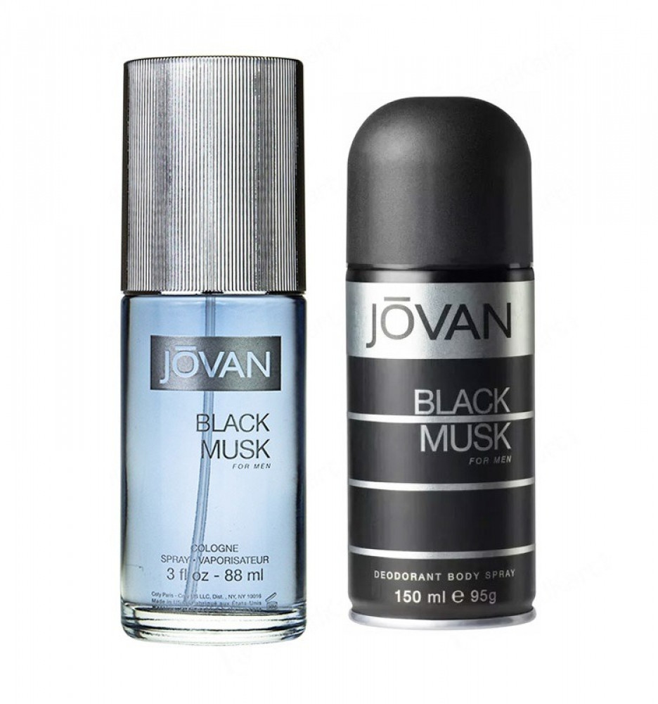 Jovan Black Musk for Men Eau de Cologne 88ml 2 Gift Set متجر الخبير شو