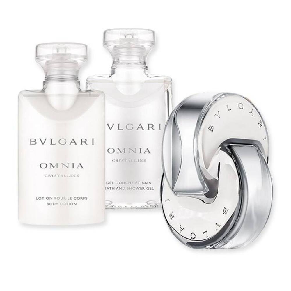Bvlgari Omnia Crystalline Eau de Toilette 40ml 3 Gift Set متجر الخبير