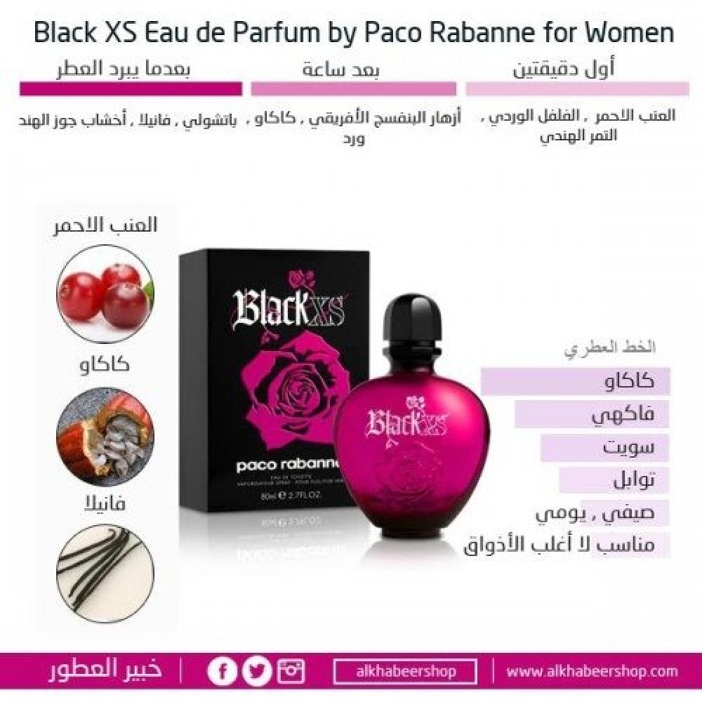 Paco Rabanne Black XS for Woman Eau de Toilette 50ml متجر خبير العطور