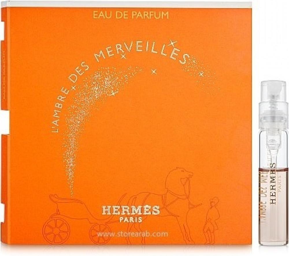 Hermes L ambre Des Merveilles Eau de Parfum Sample  2ml متجر الخبير شو
