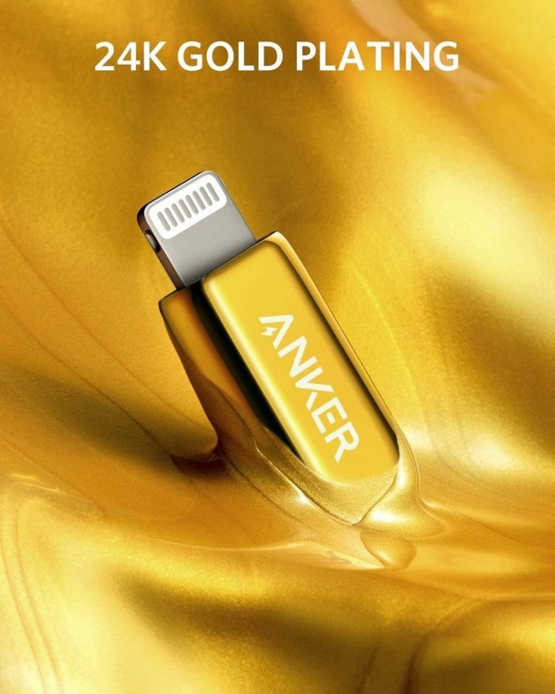 Anker 2020 Special Edition 24K Gold USB C to Lightning Cable