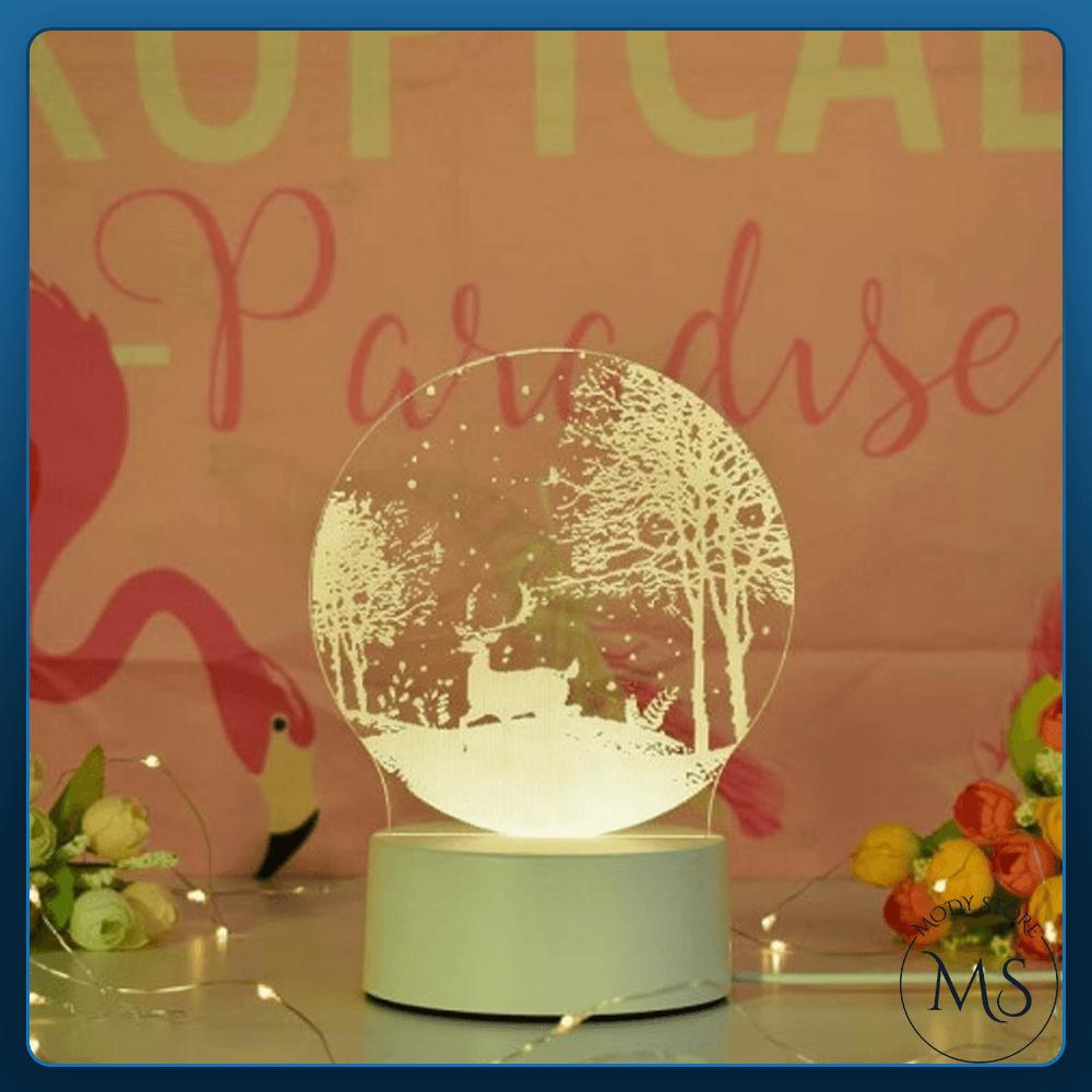 مصباح إضاءة ليلي ثلاثي الابعاد  Snow