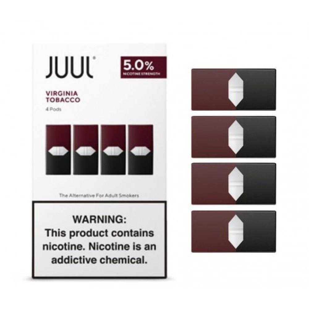 بودات جول معباة بنكهة فرجينيا توباكو - JUUL Pods Virginia Tobacco