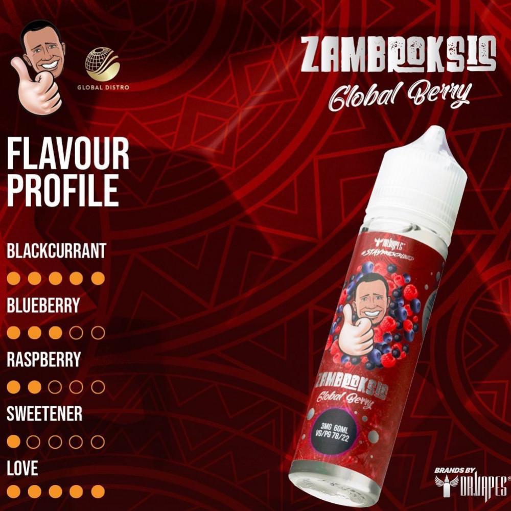 نكهة دكتور فيب جلوبل بيري توت - DR VAPE ZAMBROKSIS Global Berry - 60M