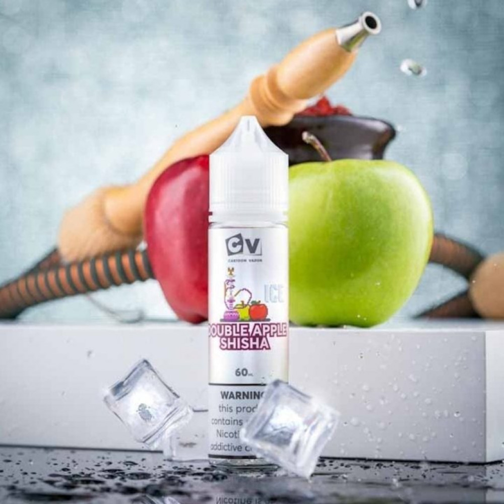 نكهة سي في شيشة تفاحتين آيس 60 ملي - CV Double Apple Shisha ICE - 60ML