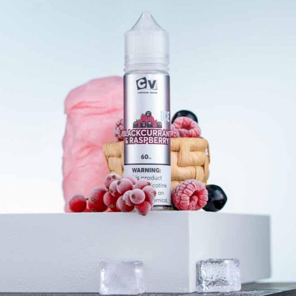 نكهة سي في كشمش أسود و توت آيس 60 ملي - CV BLACKCURRANT RASPBERRY ICE
