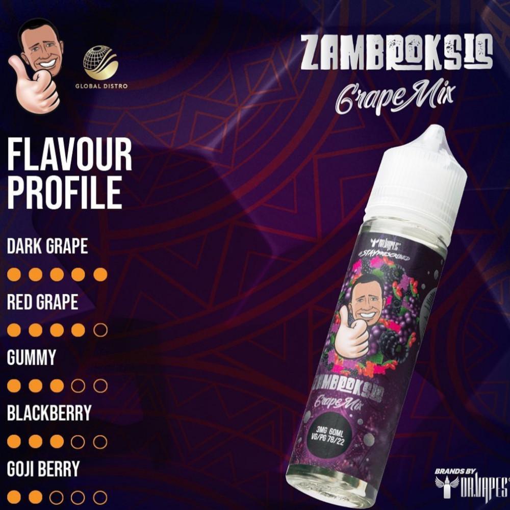 نكهة دكتور فيب مكس عنب - ZAMBROKSIS GRAPE MIX- 60ML