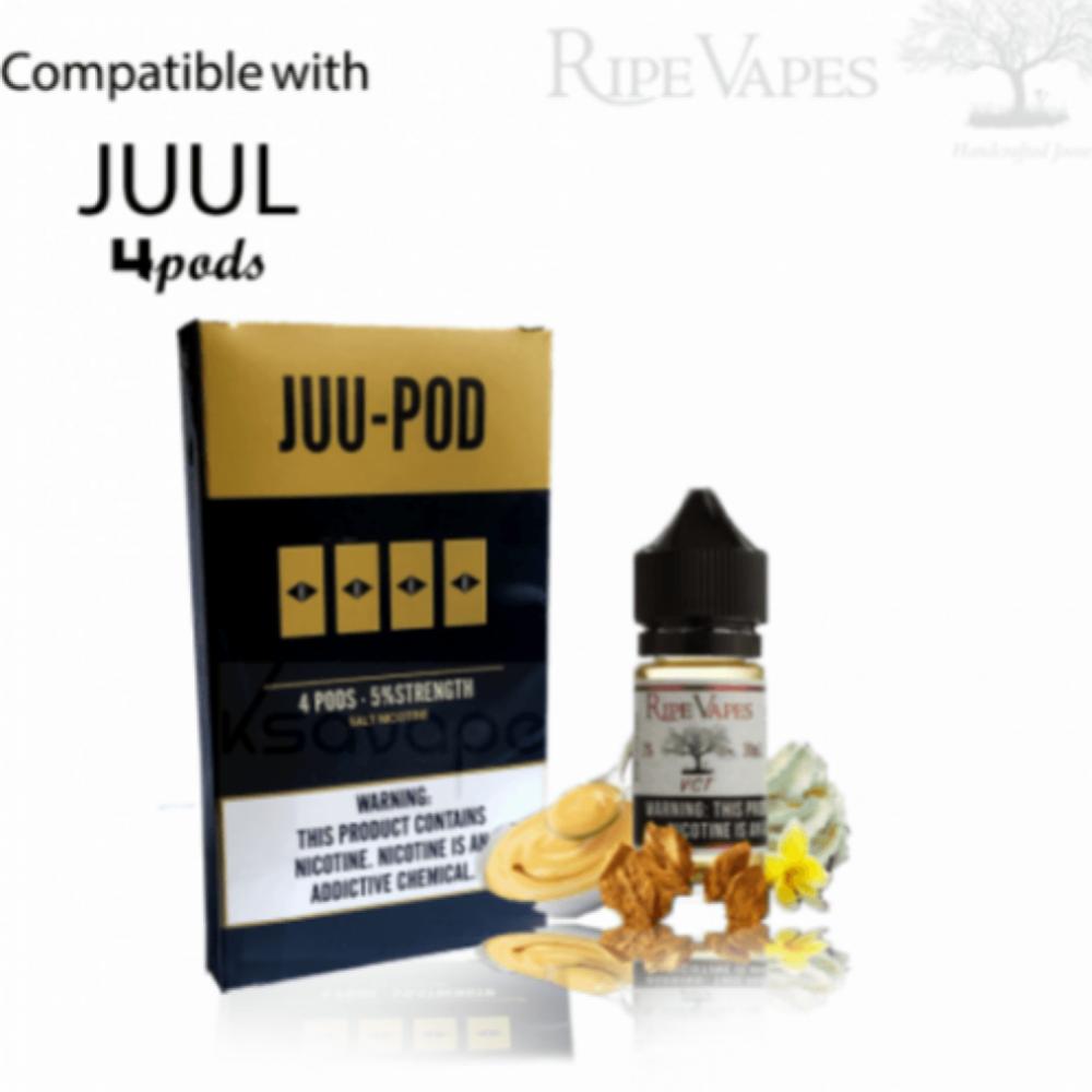 بودات جول معباة بنكهة في سي تي - JUUL Pods JUU VCT Ripe Vapes