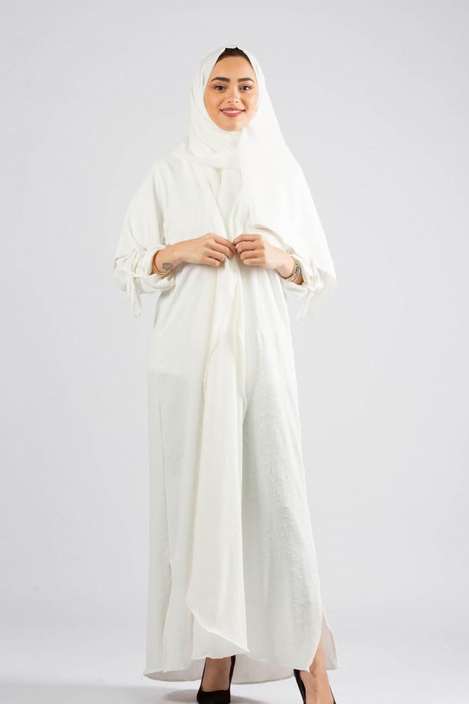 عباية قماش سيوان باللون السكري من ديباج