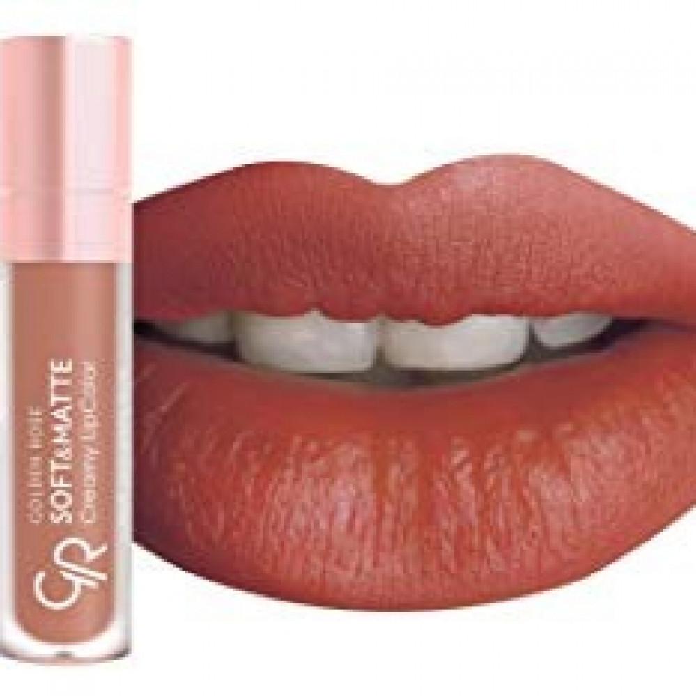 روج  كريمي و مطفي من قولدن روز golden rose soft matte creamy lip col