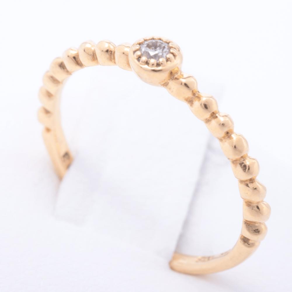 خاتم ستار جلوري ذهب مع الماس