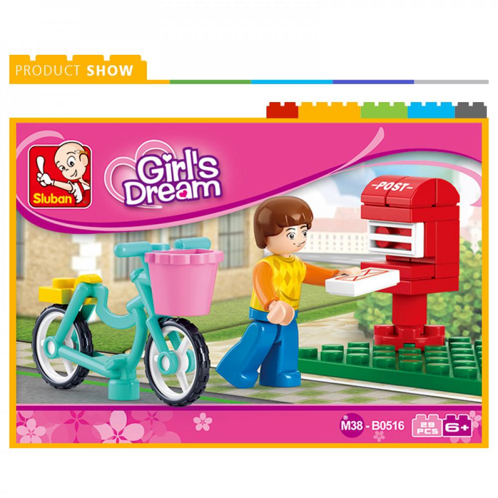سلوبان, قطع تركيب بناتي بريد, Sluban, Toys, ألعاب