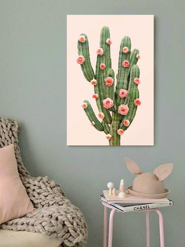 لوحة زهور الصبار خشب ام دي اف مقاس 40x60 سنتيمتر