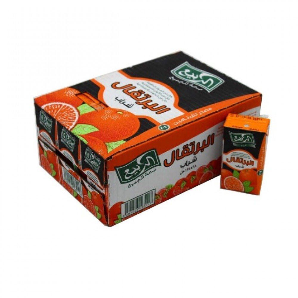 كرتون عصير الربيع برتقال 18 125مل اسواق المحسن