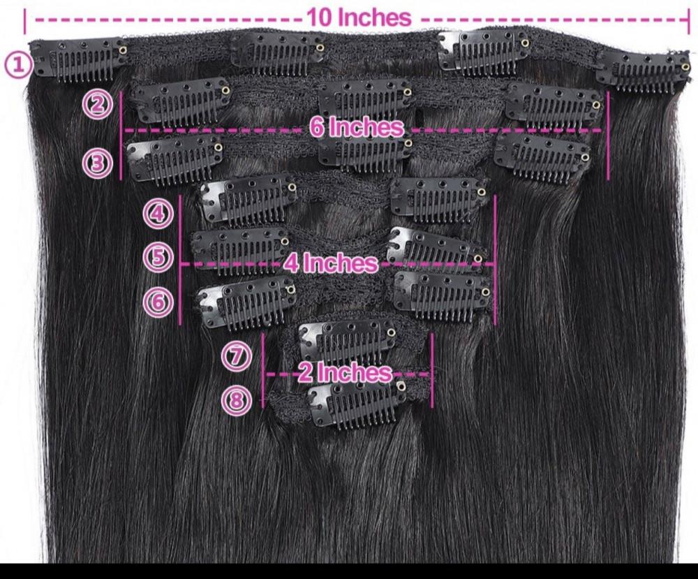 كلبسات تركيب وصلات الشعر بالكلبسات