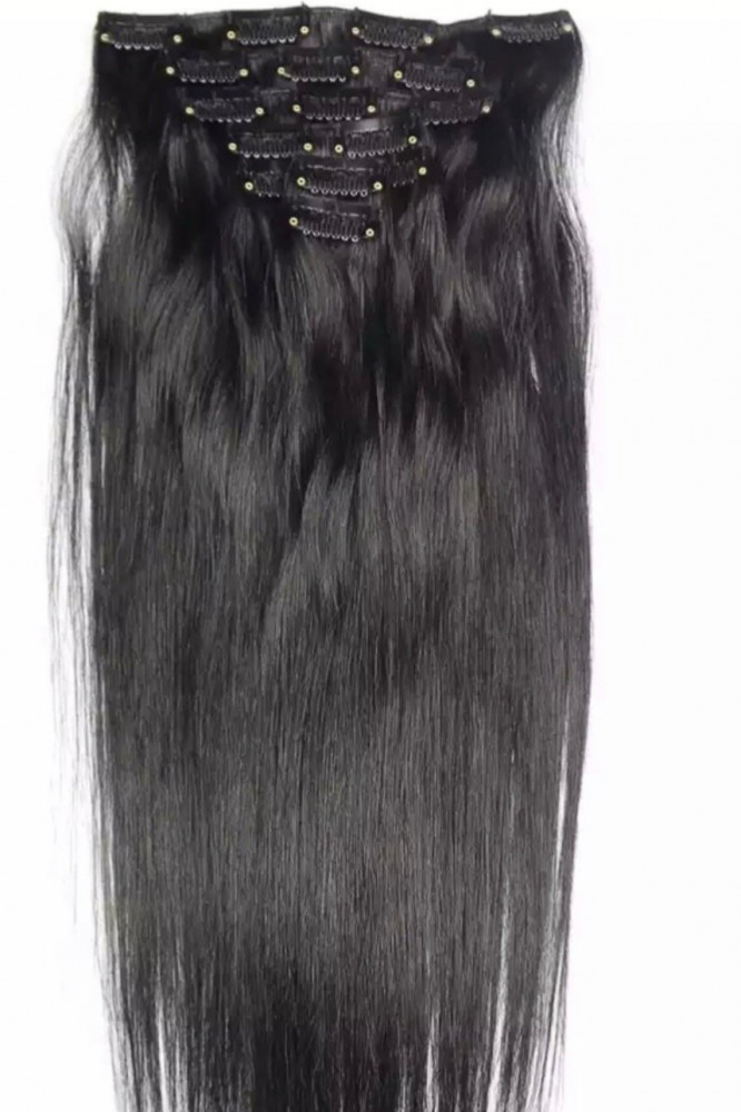وصلات الشعر الدائمة باللون البني اللامع الطبيعي