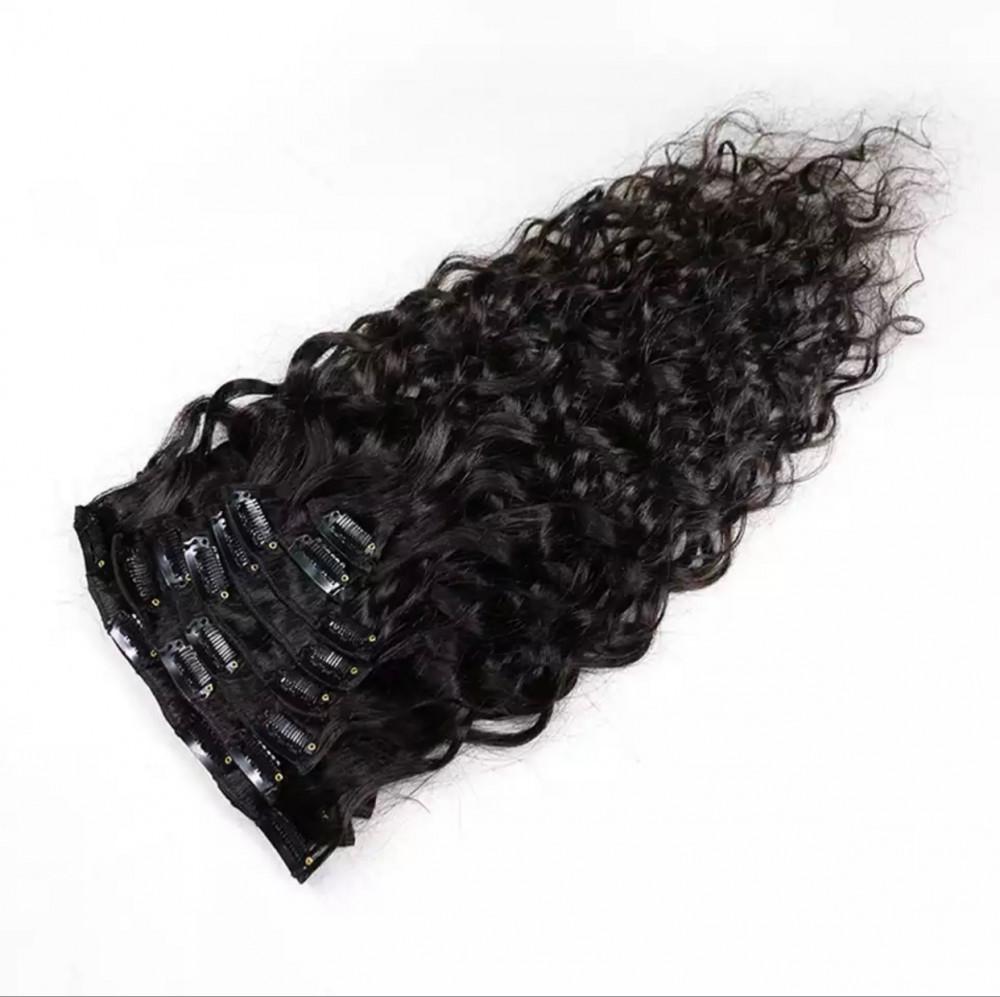 اكستنشن شعر طبيعي كيرلي برازيلي بطول 50 سم