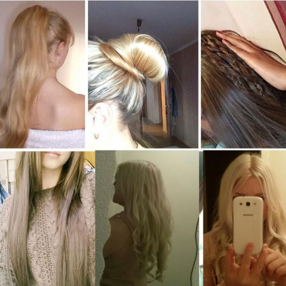 وصلات شعر طبيعي برازيلي اشقر