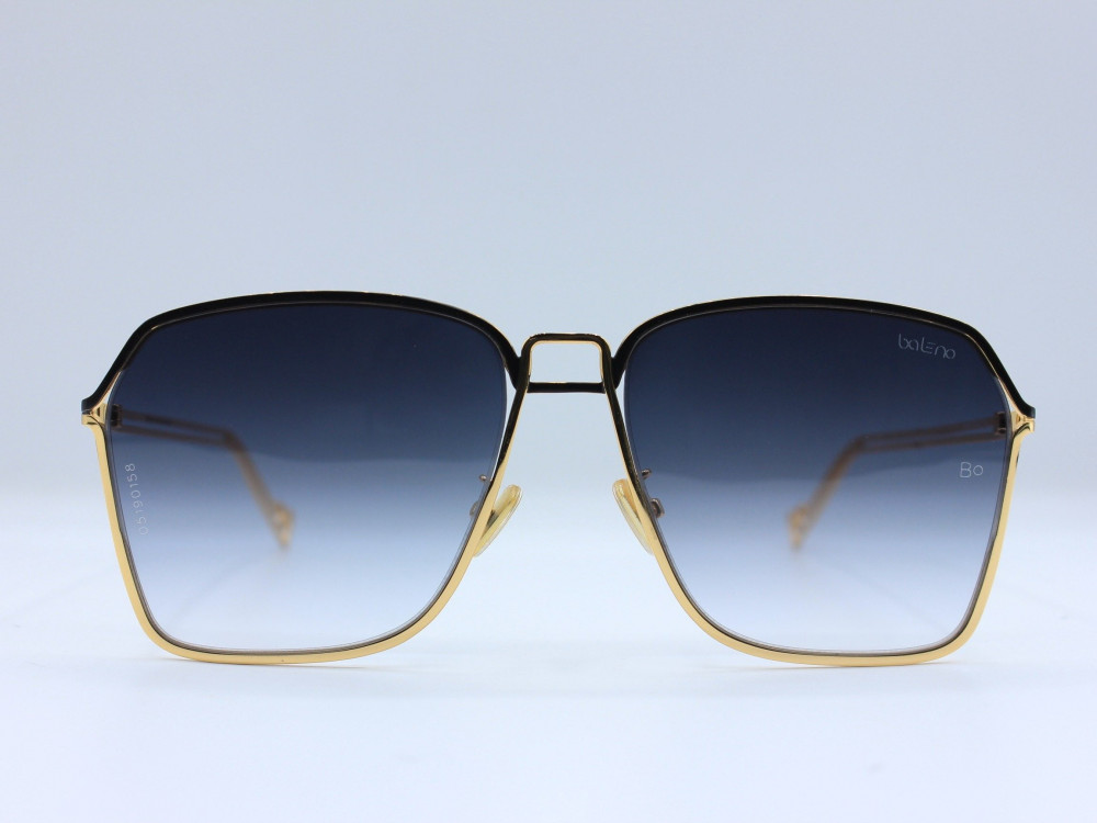 نظارة شمسية ماركة BALENO نسائية لون العدسة اسود مدرج لون الإطار ذهبي ت