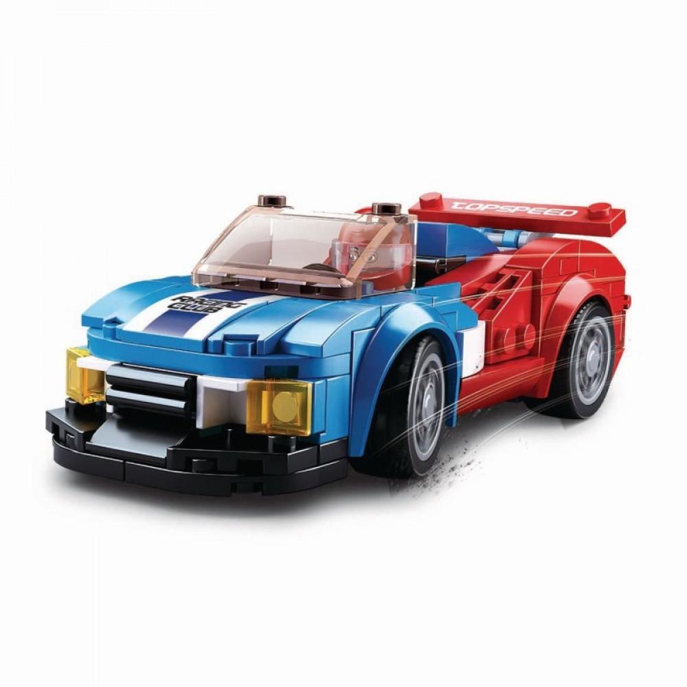 سلوبان, قطع تركيب بلاستيك, سيارة سباق, ألعاب, Sluban, Race Car