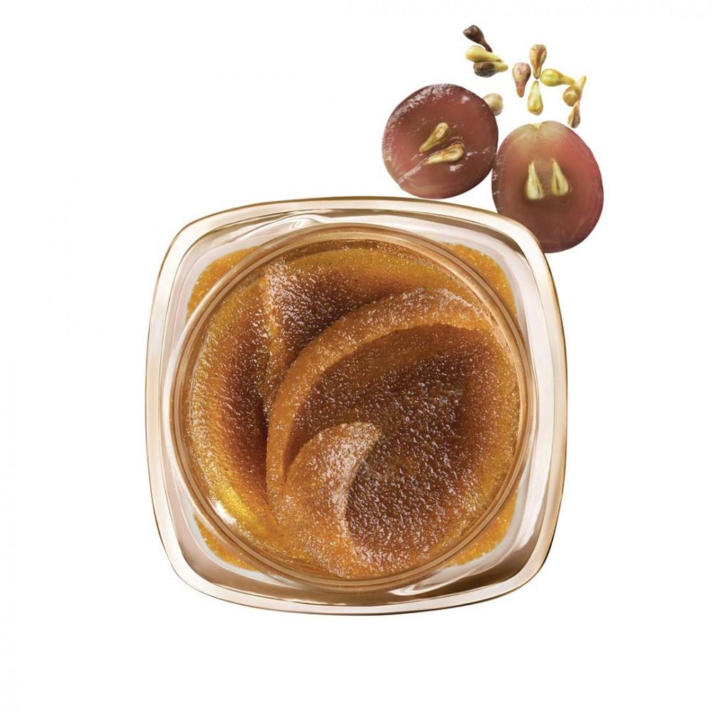 مقشر السكر وزيت بذور العنب لنضارة البشره من لوريال