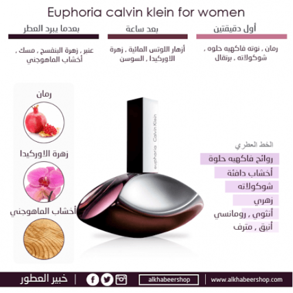 Calvin Klein Euphoria for Women Eau de Parfum 100ml خبير العطور