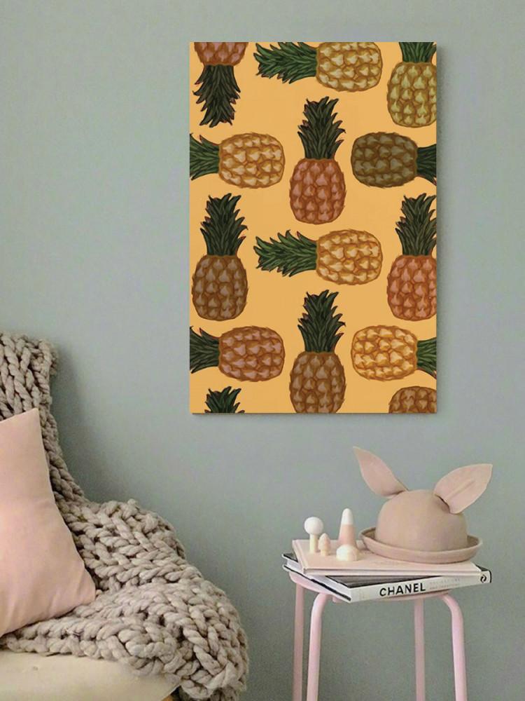 لوحة أناناس خشب ام دي اف مقاس 40x60 سنتيمتر