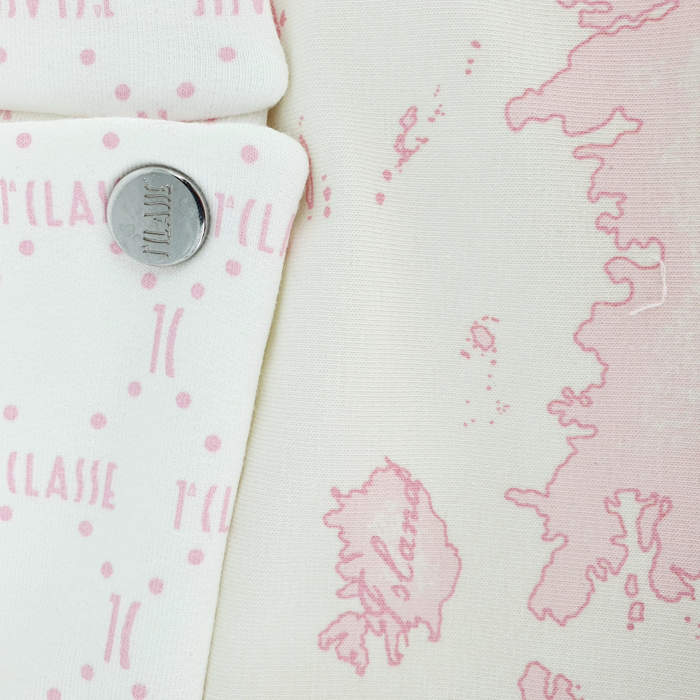 غطاء واقي من البرد باللون الزهري لحديثي الولادة  من ماركة  Alviero Mar