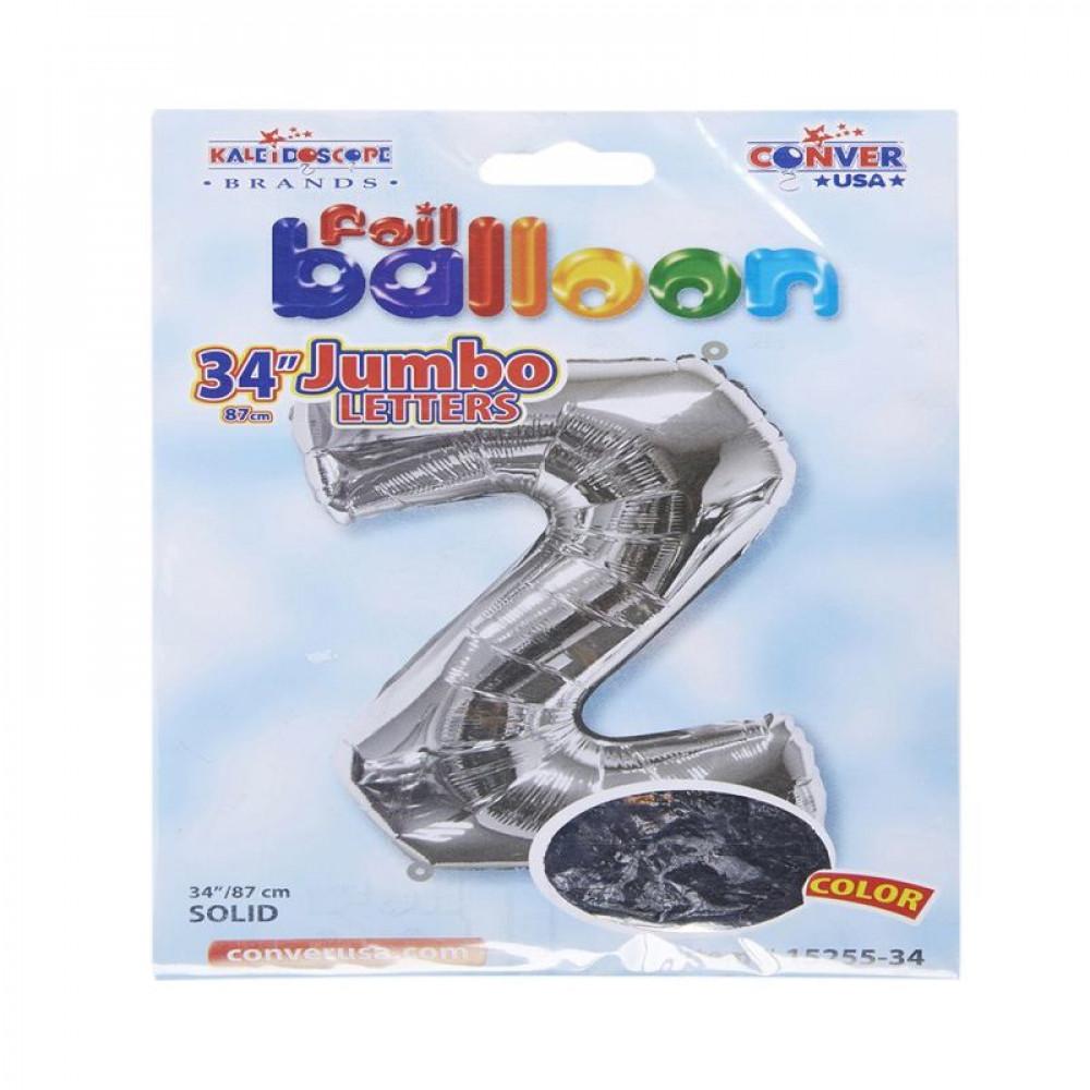 بالون فضي, بالون حرف Z, بلونات أحرف, Silver Balloon